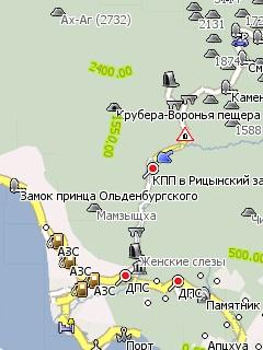 карта абхазии для igo