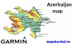Azerbaijan Garmin map